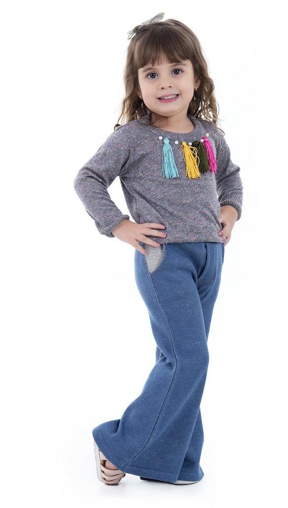 Sweater Tricot Infantil Menina Adeline