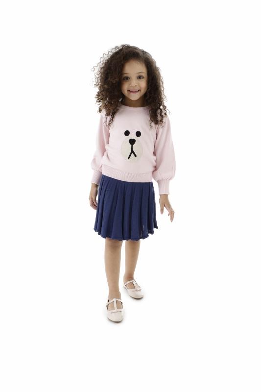 Sweater Tricot Infantil Menina Aline