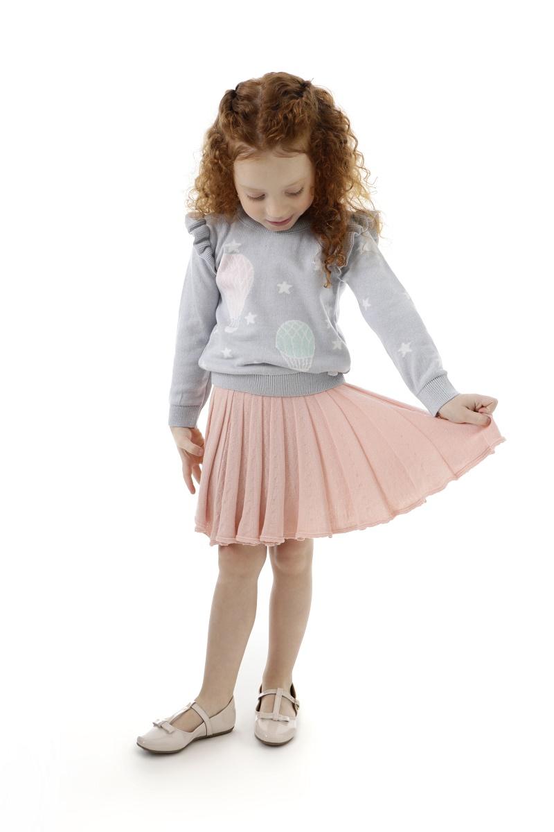 Sweater Tricot Infantil Menina Maraisa
