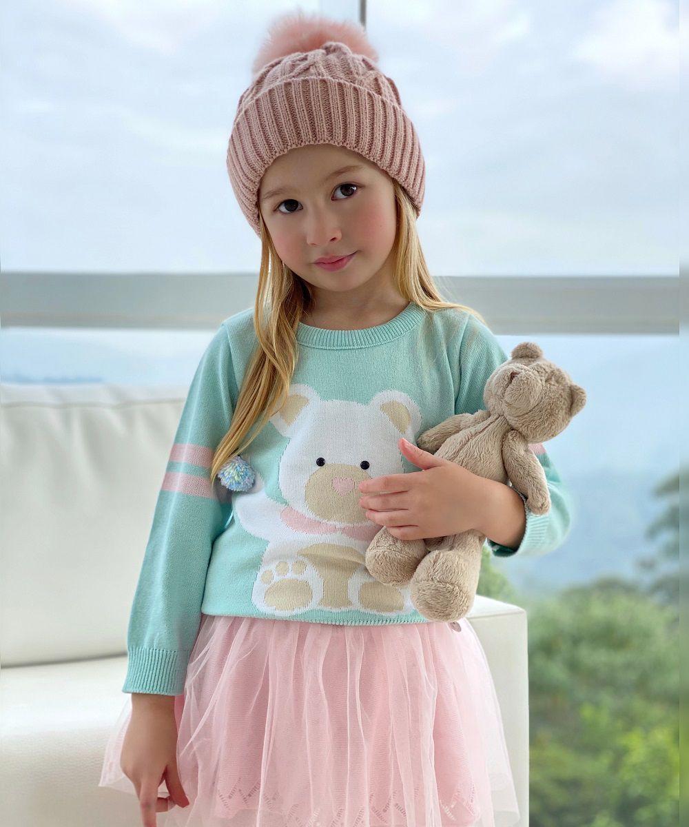 Sweater Tricot Infantil Menina Mila