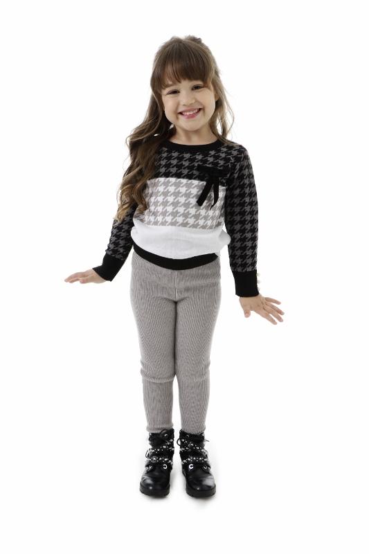Sweater Tricot Infantil Menina Mylly