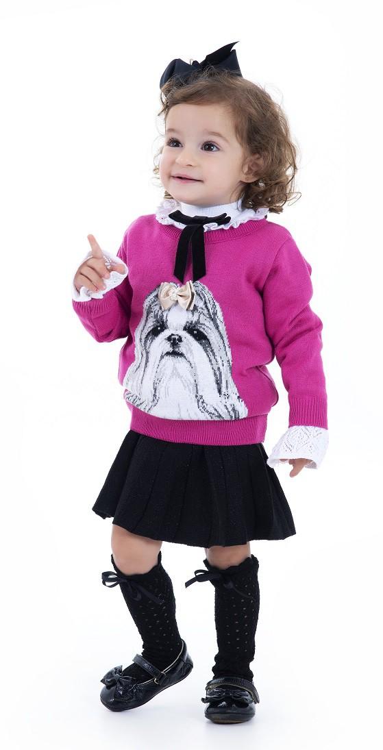 Sweater Tricot Infantil Menina Natalie