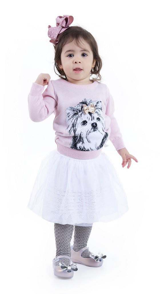 Sweater Tricot Infantil Menina Valentina