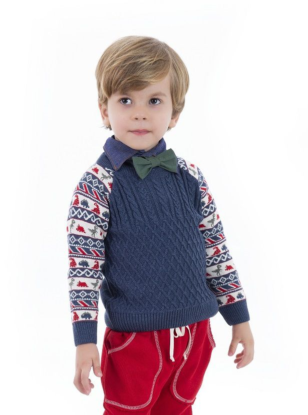 Sweater Tricot Infantil Menino Alfred