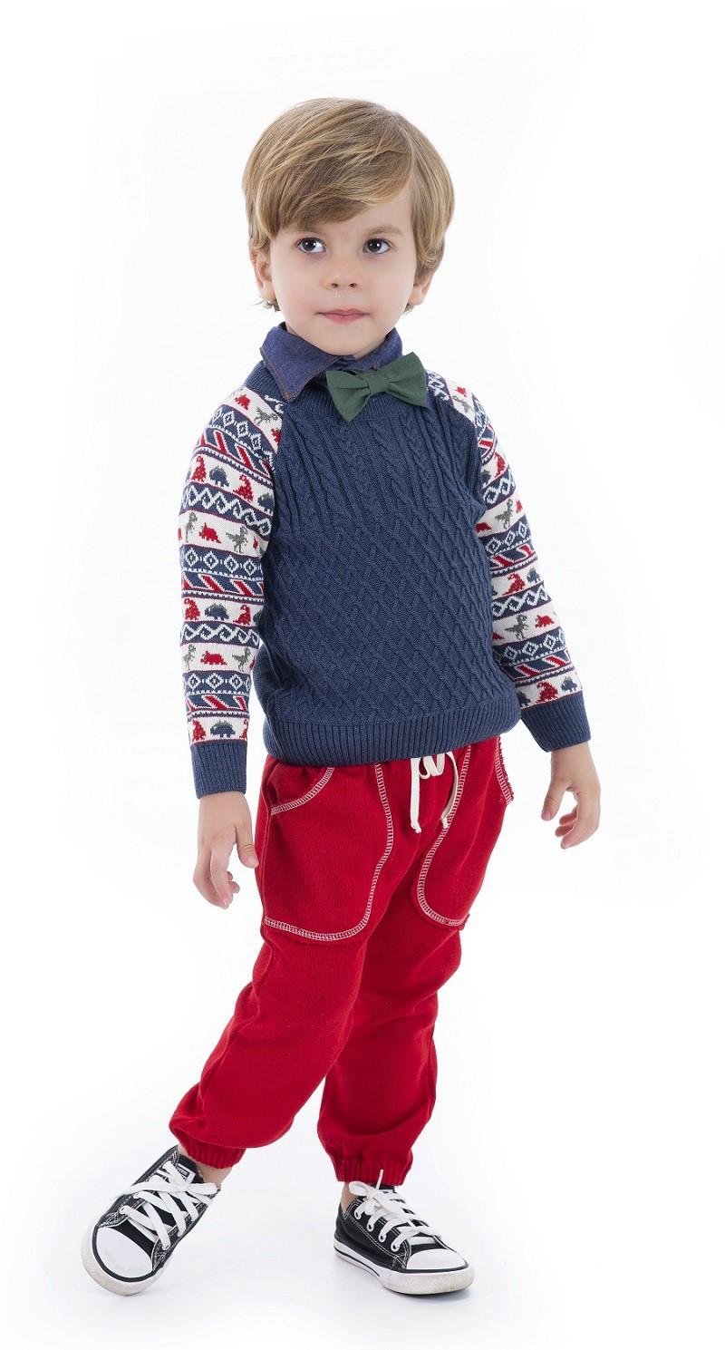 Sweater Tricot Infantil Menino Alfred