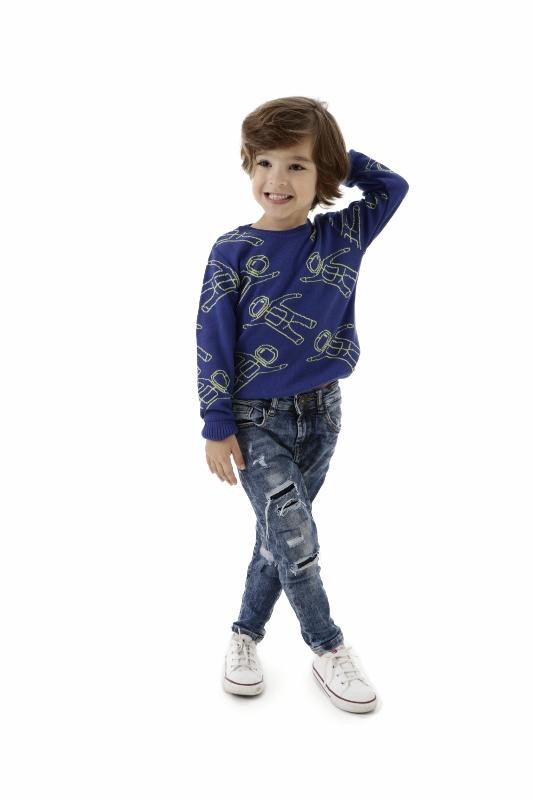 Sweater Tricot Infantil Menino Isaac