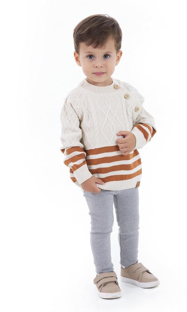 Sweater Tricot Infantil Menino Noah