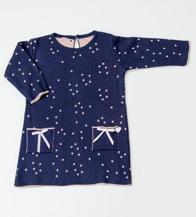 Vestido Tricot Infantil Bebê Menina Amelia