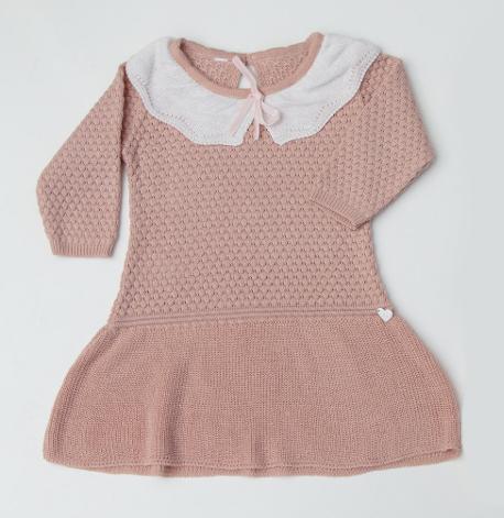 Vestido Tricot Infantil Bebê Menina Regina