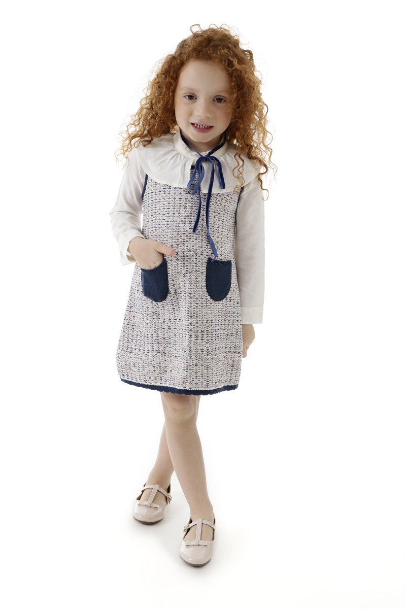 Vestido Tricot Infantil Menina Carolina