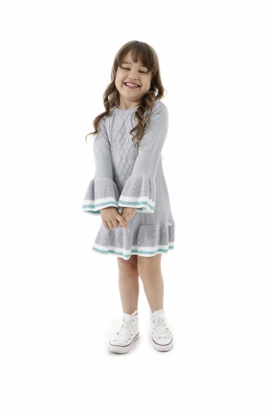 Vestido Tricot Infantil Menina Michele