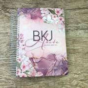 Bíblia Anote King James - Flores Lilás