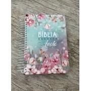 Bíblia Anote NVI Espiral - Feminina - Magnólia