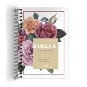 Bíblia Anote NVI espiral Floral