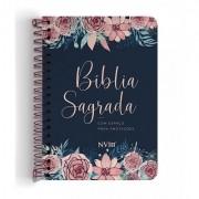 Bíblia Anote NVI espiral - Rosas