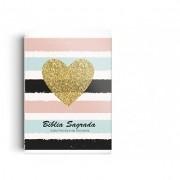 Biblia ARC Brochura - Coração Brilhante - pequena