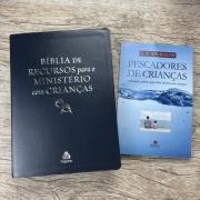 Bíblia De Estudo Para Ministérios Com Crianças Azul + Brinde