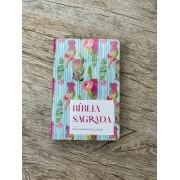 Bíblia Sagrada ARC - Letra Gigante - Flor Listrada