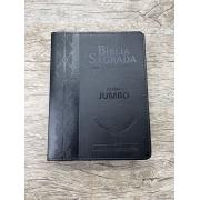 Bíblia Sagrada com Harpa letra Jumbo Preta