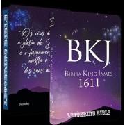 BKJ 1611 Ultra Fina - Lettering Bible (Universo)  - Bíblia King James 1611