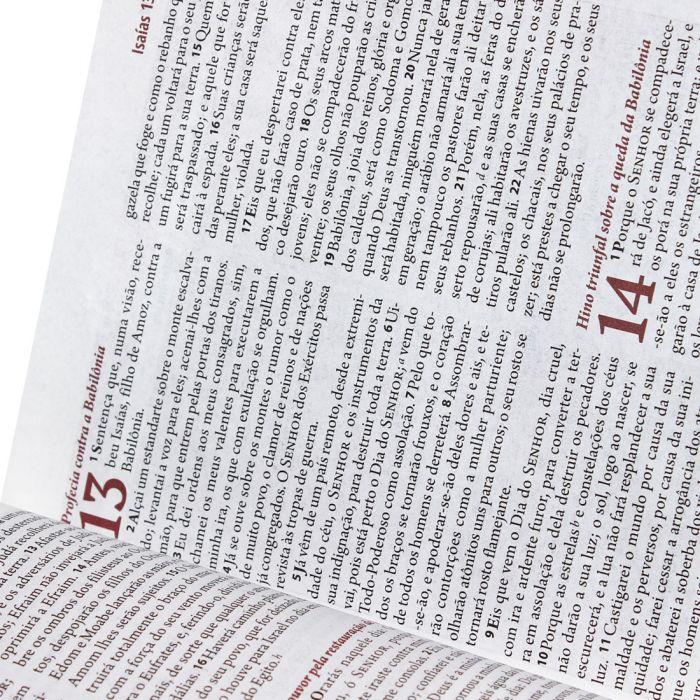 A Bíblia da Mulher - Branca - Bordas Floridas - Grande