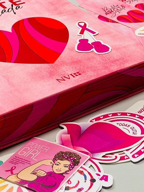 Bíblia Anote NVI espiral - Especial Outubro Rosa - disponivel a partir de 06/10