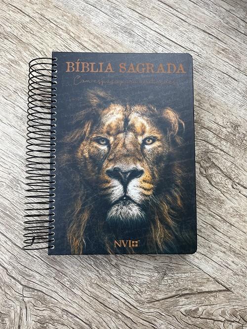 Bíblia Anote NVI espiral - Leão de Judá
