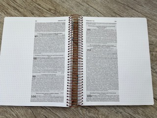 Bíblia Anote Plus espiral - Flores e letras