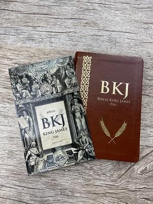 Bíblia BKJ King James Fiel 1611 / Capa Marrom / Palavra de Jesus em Vermelho