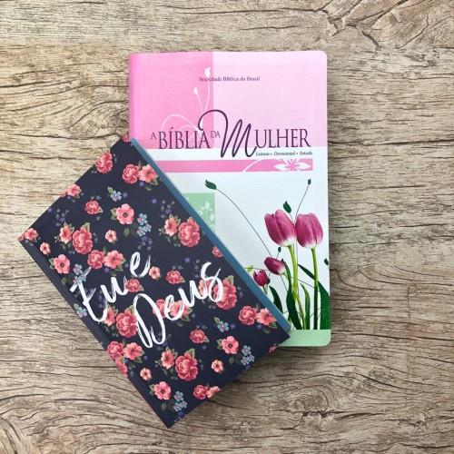 Bíblia da Mulher Grande Revista e Atualizada + Brinde - Tulipa