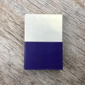 Bíblia de Estudo da Mulher de Fé - Capa Violeta e Bege