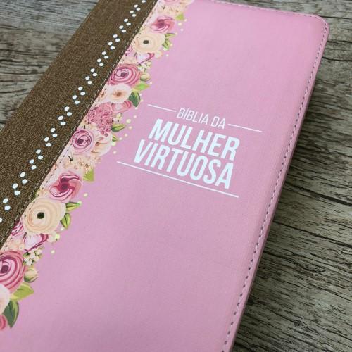 Bíblia De Estudo Da Mulher Virtuosa - Pink