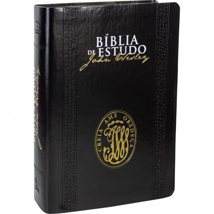 Bíblia de Estudo John Wesley - capa luxo preta