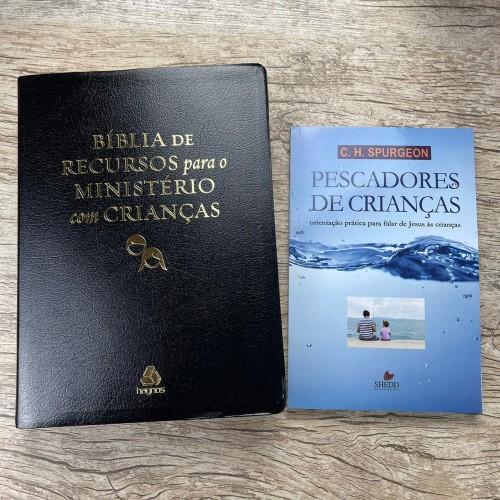 Bíblia De Estudo Para Ministérios Com Crianças Preta +brinde