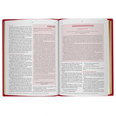 Bíblia De Estudos Da Mulher – Capa Em Couro Rosa