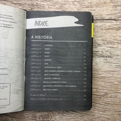 Bíblia em Quadrinhos - Capa Amarela