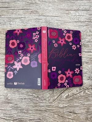 Bíblia Jardim Floral Roxa - NVI - Letra Normal - Capa Flexível