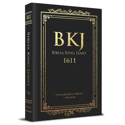 Bíblia King James 1611 Com Concordância (Luxo Preta) BKJ 1611 Com Concordância, Palavras de Jesus em Vermelho e Pilcrow