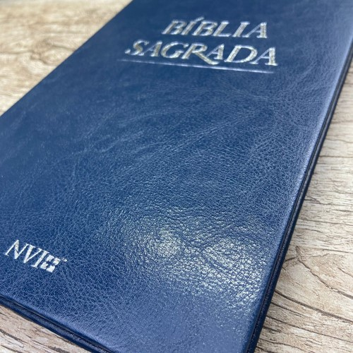 Bíblia NVI Slim semi luxo - Azul