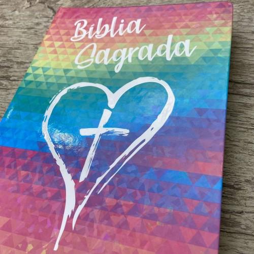 Bíblia NVI Slim semi luxo - Coração color
