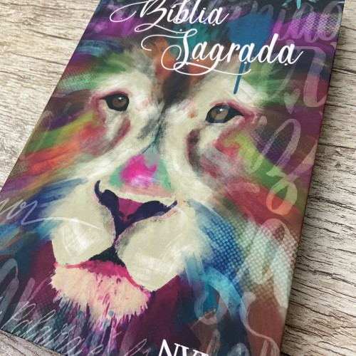 Bíblia NVI Slim semi luxo - Leão Artístico