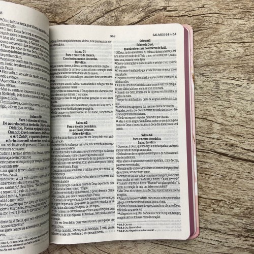Bíblia NVI Slim semi luxo - Pinceladas de amor