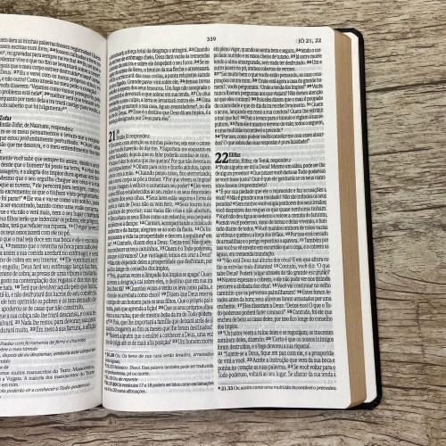 Bíblia NVI Slim semi luxo - Preta