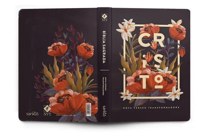BÍBLIA NVT 960 FLORES TROPICAIS CRISTO PRETA