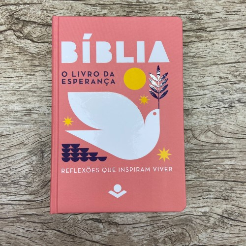 Bíblia O Livro da Esperança - Rosa