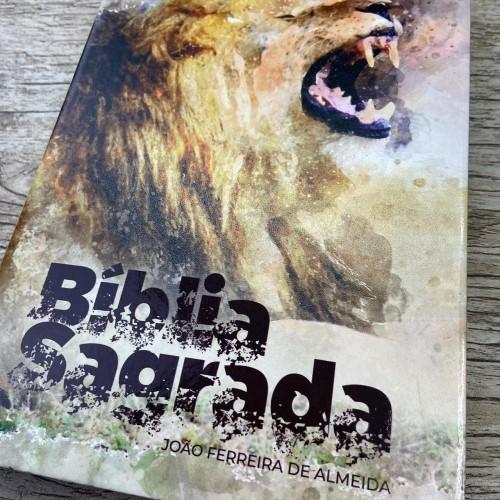 Bíblia RC grande semi-luxo Leão