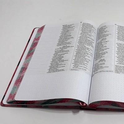 Bíblia Sagrada Anote | NVI | Letra Média | Capa Dura | Coração Rosa