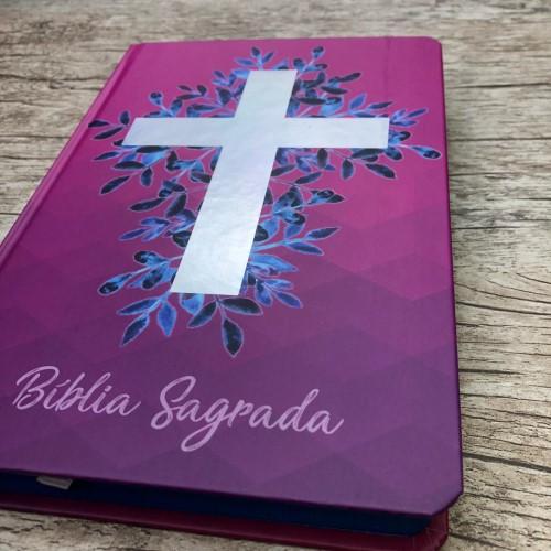 Bíblia Sagrada Cruz Vinho - NAA