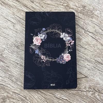 Bíblia Sagrada Flores Preta - NVI