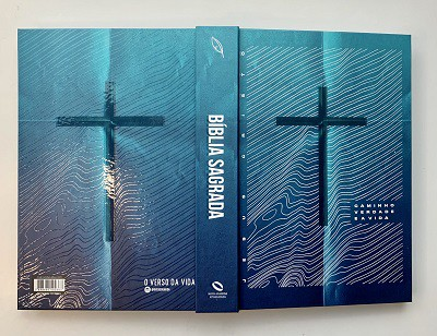 Bíblia Sagrada NAA Cruz & Ondas - Letra Grande - Capa Dura